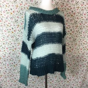Anthropologie Lili's Closet Mohair Sweater Striped